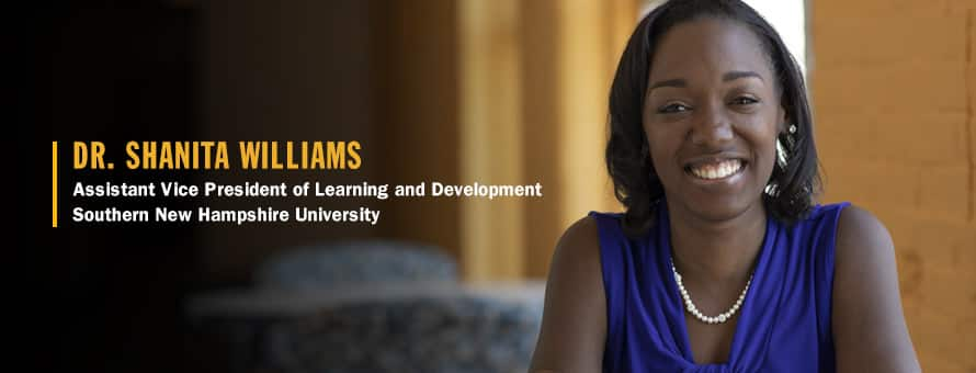 Photo of Shanita Williams who uses a specific approach to guide her thinking when creating a personal development plan.